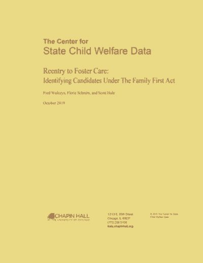 Reentry to Foster Care report cover