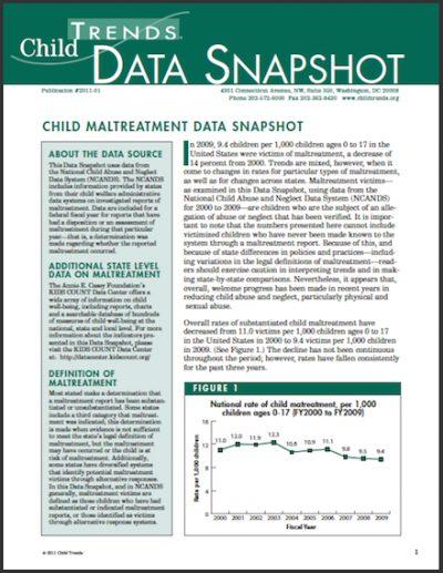 CT Data Snapshot Maltreatment 2011 cover