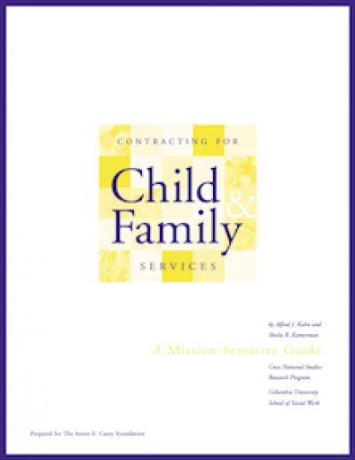 CU Contractingfor Childand Family Cover 1999