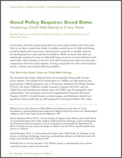 FF Good Policy Requires Good Data 2010 cover