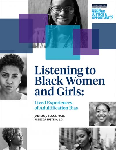 Listening to Black Women and Girls report cover