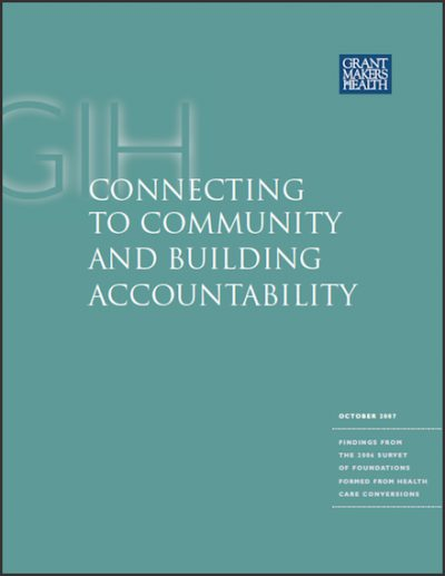 GIH Connectingto Community 2007 cover