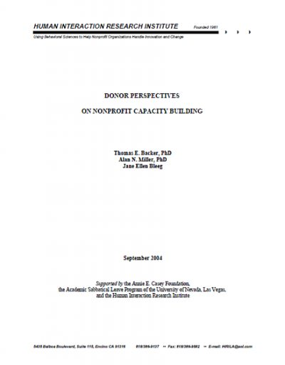 Hiri Donor Perspectives NP Capacity Bldg cover