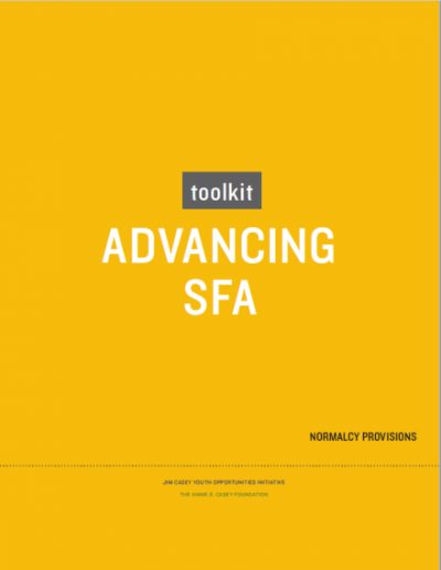 JCYOI Advancing SFA Toolkit cover