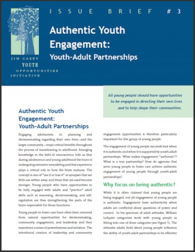 JCYOI Authentic Youth Engagement 2012 cover