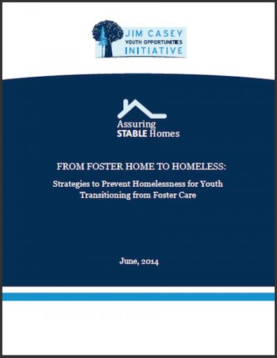 JCYOI From Foster Careto Homeless 2014 cover