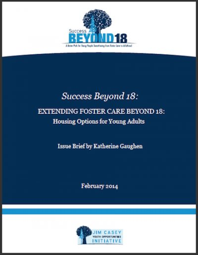 JCYOI Housing Optionsfor Young Adults 2014 cover