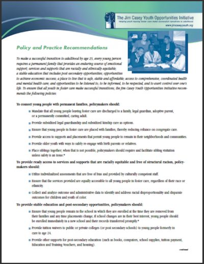 JCYOI Policy Practice Recommendations cover