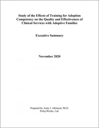 Policyworks trainingforadoption cover 2021