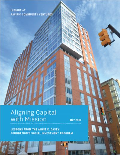 PCV Aligning Capital With Mission 2016 cover