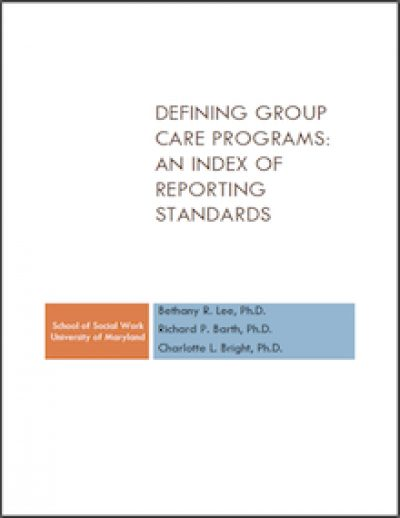 UM Defining Group Care Programs 2011 cover