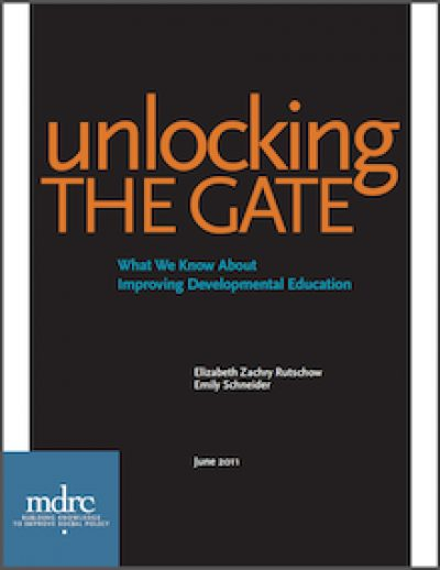 MDRC Unlockingthe Gate 2011 cover