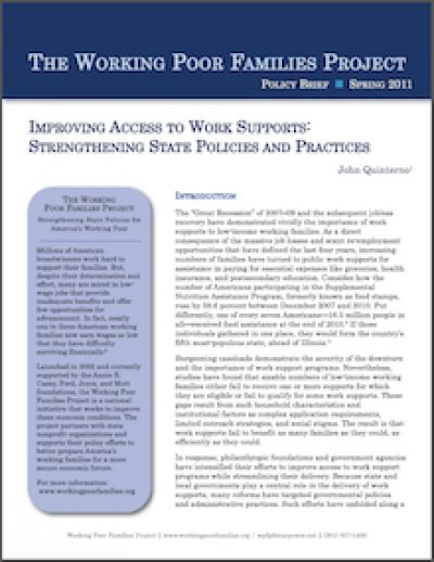 WPFP Improving Accessto Work Supports 2011 cover
