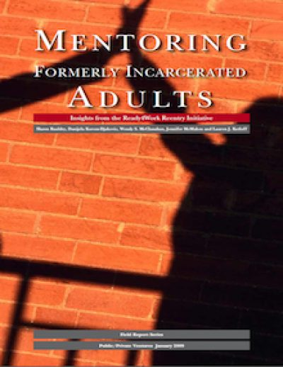 PPV Mentoring Formerly Incarcerated Adults Cover 2009
