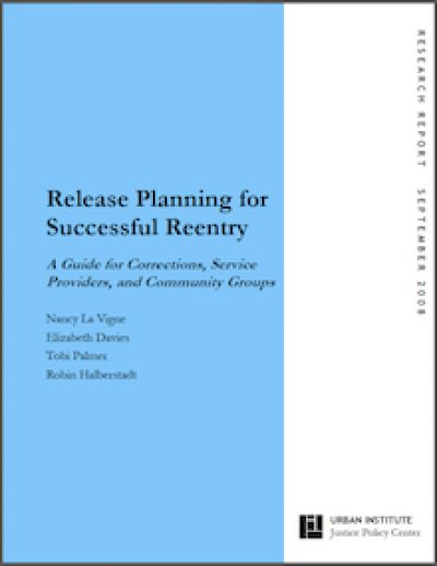 UI Release Planningfor Successful Reentry 2008 cover