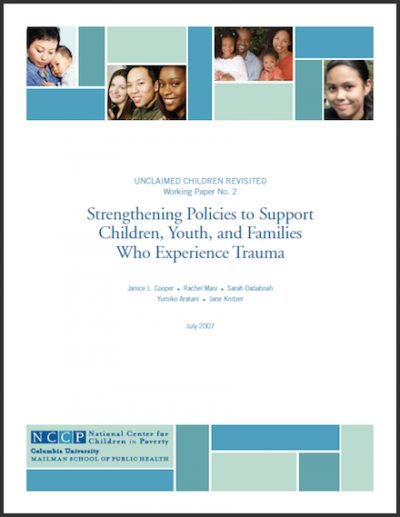 NCCP Strengthening Policiesto Support Trauma 2007 cover