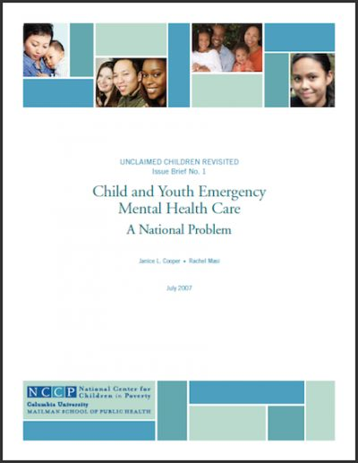 NCCP Childand Youth Emergency Mental 2007 cover