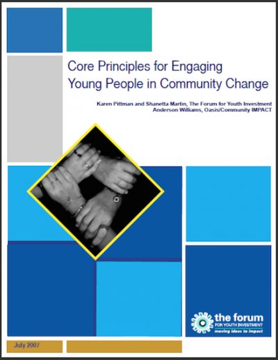 The Forum Core Principlesfor Engaging 2007 cover