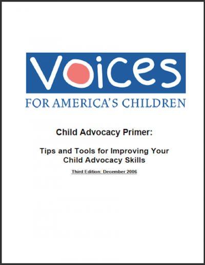 VOICES Child Advocacy Primer 2006 cover