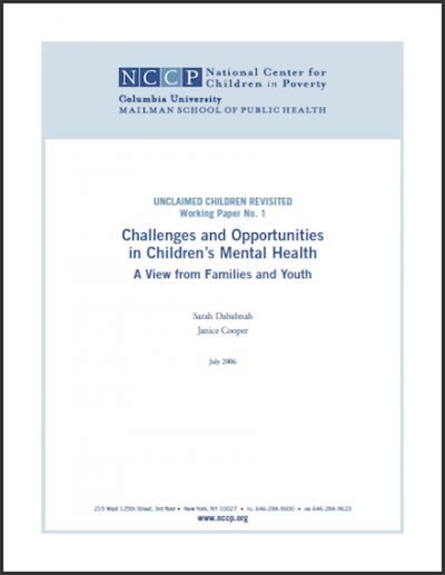NCCP Challengesand Opportunities 2006 cover