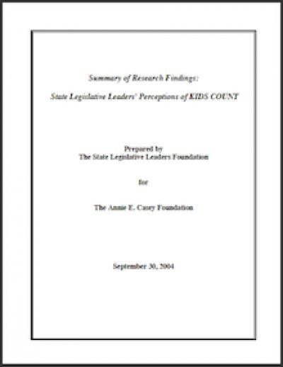 SLLF State Legislative Leaders Perceptions 2004 cover