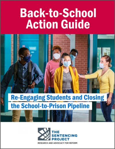 A cover image of the report, which shows five young people of various races exiting a building. At least two are wearing bookbags. All are wearing masks.