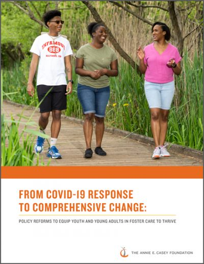 Cover for the policy brief From COVID-19 Response to Comprehensive Change