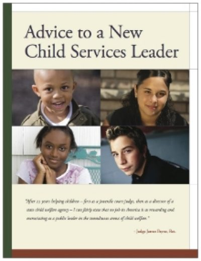 AECF Advice To A New Child Services Leader Cover1