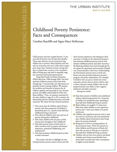AECF Childhood Poverty Persistence 2010 Cover1