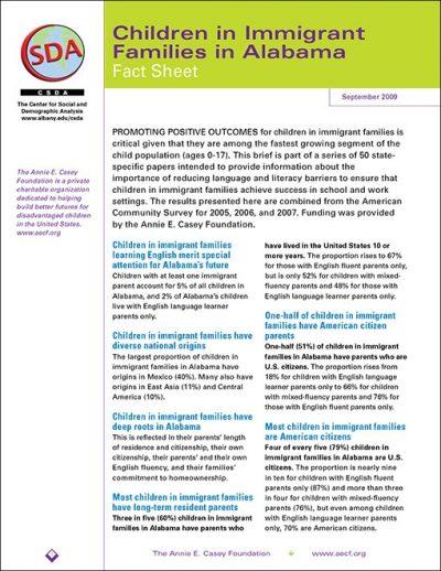 AECF Childrenin Immigrant Families Stateby State 2009 pdf 1