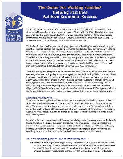 AECF Helping Families Achieve Economic Success Cover1