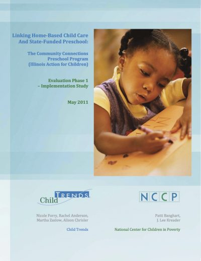 AECF Home Based Child Careand State Funded Preschool 2011 Full Cover1