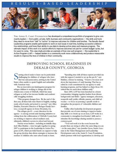 AECF Improving School Readiness In Dekalb County 2010