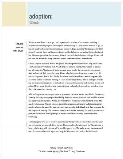 AECF Lifelong Families Adoption Case Study Cover1