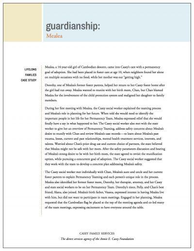 AECF Lifelong Families Case Study Guardianship Cover1