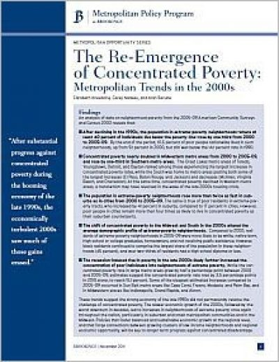 AECF The Re Emergence Of Concentrated Poverty 2011 Cover2
