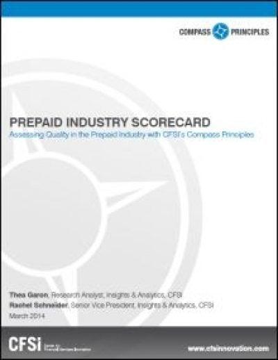 CFSI Prepaid Industry Scorecard cover