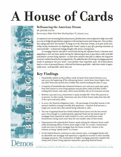 Aecf A House Of Cards Refinancing American Dream cover