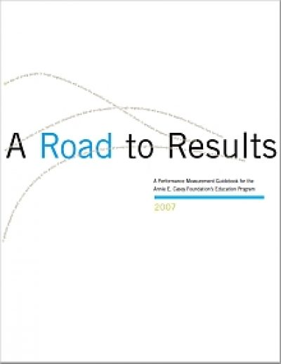 Aecf A Road To Results Performance Measurement cover