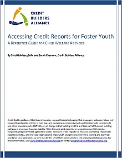 Aecf Accessing Credit Reports Foster Youth cover