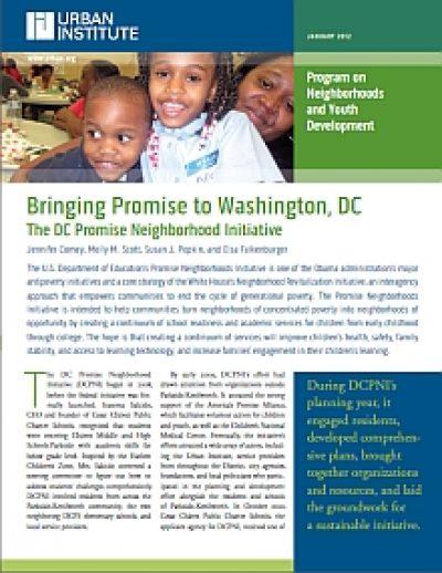 Aecf Bringing Promiseto Washington DC cover