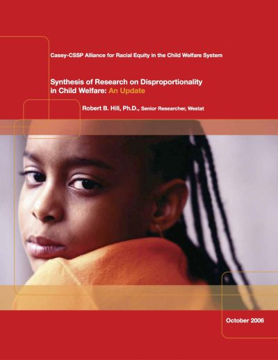 Aecf CFS Synthesis Of Research On Disproportionality In Child Welfare An Update cover