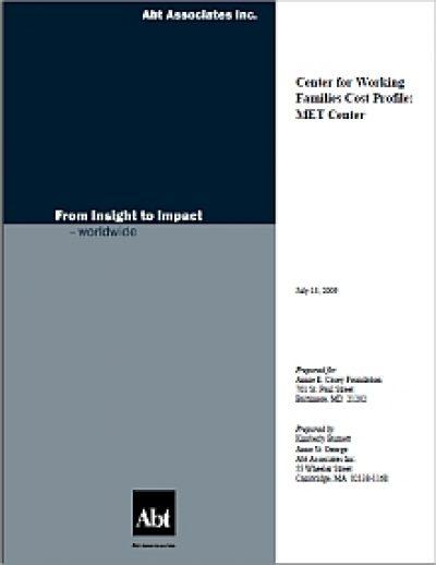 Aecf CWF Cost Profile MET cover