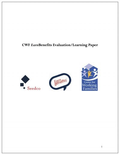 Aecf CWF Earn Benefits Eval Learning Paper Cover1