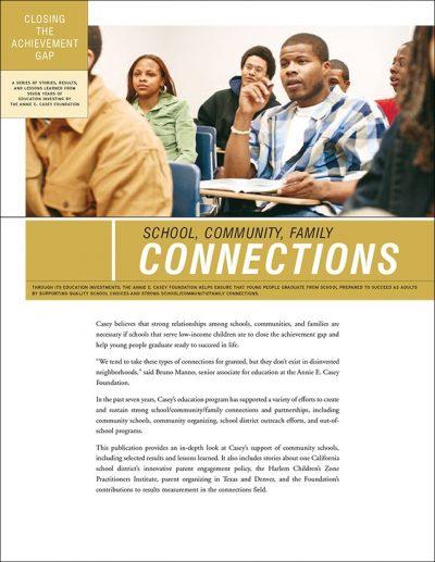 Aecf Closing Achievement Gap Connections 2008 pdf 1