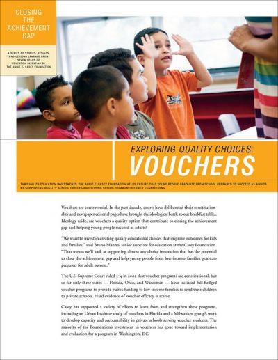 Aecf Closing Achievement Gap Vouchers 2008 pdf 1