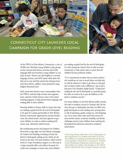 Aecf Connecticut City Launches Local Campaign For Grade Level Reading cover