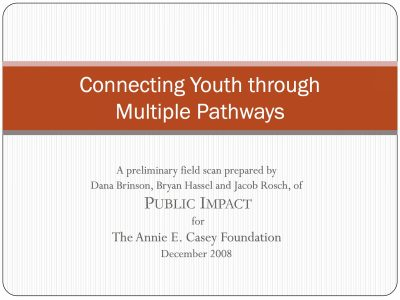 Aecf Connecting Youth Multiple Pathways cover