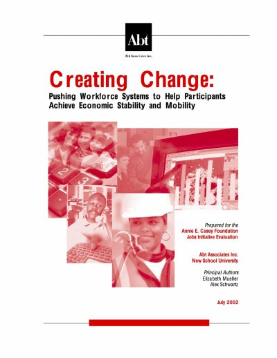 Aecf Creating Change Pushing Workforce Systems Help Participants Achieve Economic Stability Mobility cover