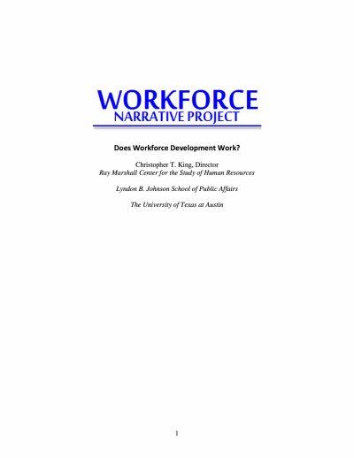 Aecf Does Workforce Development Work cover